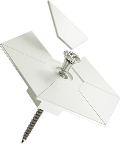 nanoleaf Schraubenbefestigungs-Kit für das Light Panel [12 Dübel für Gips | 12 Dübel für Beton | 12 Schrauben | 12 Halterplatten | 4 flexible Verbindungsstücke] - NL25-0001, Weiß