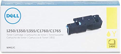 Original Dell C1760nw / C1765nf / C1765nfw / 1250c / 135X High Capacity Toner Kit, approximately 1,400 pages, yellow