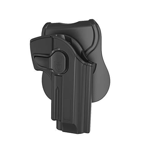 Beretta 92 FS Holster OWB, Outside The Waistband Carry Holsters for Beretta 92 92FS 96FS GSG92, Taurus PT92, Girsan Regard MC, Polymer Belt Holster with 360° Adjustable Paddle, Right Hand