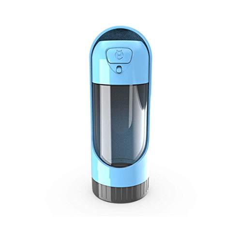 Tubayia Botella de agua para mascotas, dispensador de agua para viajes, exteriores, camping, viajes (azul)