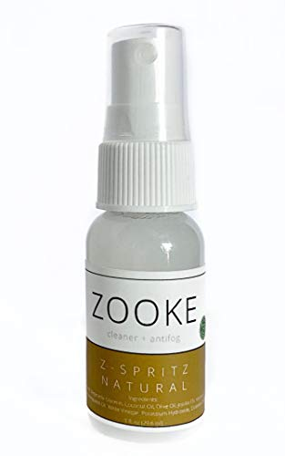 Zooke Anti-Fog + Cleaner Natural Z-Spritz   100% All-Natural Anti-Fog Cleaning Spray