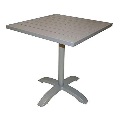 Moia S.p.A. Tavolino da Bar Calipso in Alluminio Tortora TC 22T