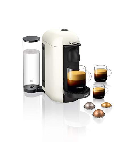 Krups Nespresso XN9031 Vertuo Plus Kaffeekapselmaschine | 1,1 Liter Wassertank | Für 5 Kaffeegrößen geeignet | Automatische Abschaltung | Weiß