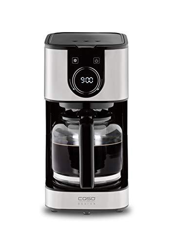 CASO Selection C12 - Design-Kaffeemaschine für bis zu 12 Tassen Kaffee, 1,5 L Wassertank, Edelstahlgehäuse, Warmhaltefunktion, Timer, inkl. Permanentfilter