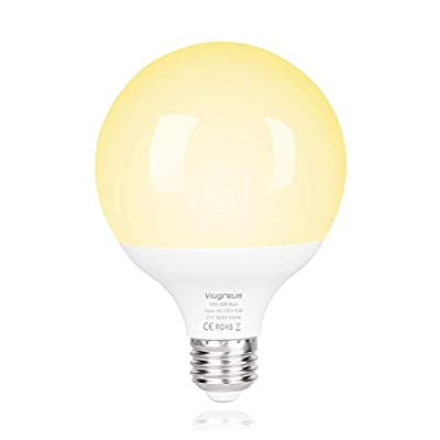 Viugreum LED Light Bulb 12W Globle LED Night Light Bulbs Outdoor/Indoor for Stairs,Garage ,Yard ,Porch, Hallway, Patio