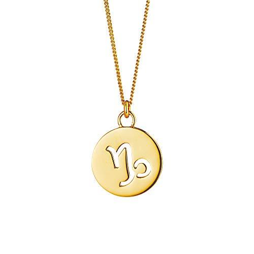Cai Damen Halskette 925/- Sterling Silber 50+5cm Glänzend gelb 135240002-55-STE
