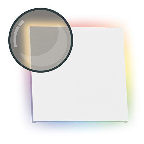 RGB LED Treppenbeleuchtung PLEXI Wei§ Eckig fŸr Schalterdoseneinbau 60/68mm 11 Farben Warmwei§ Dimmbar