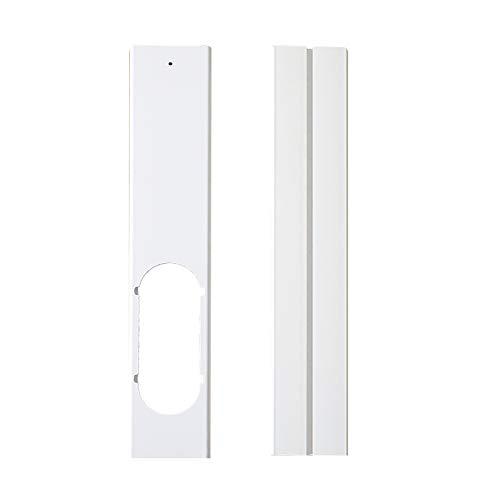 UTDKLPBXAQ - Juego de 2 placas de juntas de ventana, kit de cremallera de ventana bien sellado, placa de repuesto portátil, soporte de junta de ventana de PVC para aire acondicionado ventana casa