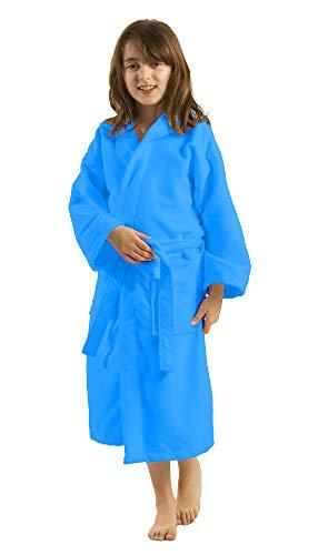 By Lora - Albornoz con capucha de microfibra de rizo para niñas y niños y adolescentes niñas y niños, talla pequeña