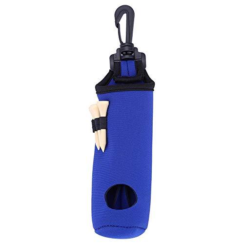 Golfball Tasche Tee Tasche Neopren Golf Ball Tasche Halter Clip Utility Pouch mit Tees, Golf Tees Halter Tragetasche Tragetasche Gürtel Tasche Sport Golf Zubehör - schwarz, gelb, blau, grün, rot(Blau)
