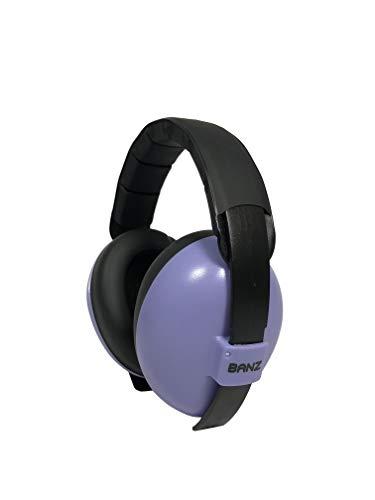 BabyBanz GBB005 Baby-Gehörschutz, 0-2 Jahre, mit extra weichem Kopfbügel, lila