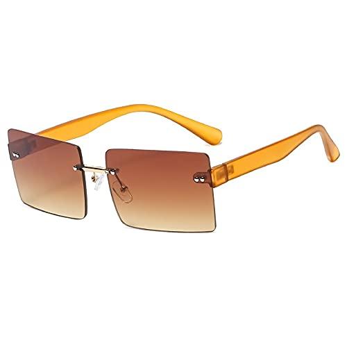 AMFG Gafas de sol cuadradas de moda Hombres y mujeres Tendencia Tarjeta Gafas de sol Rimas Radient Color Color Street Tiro Gafas (Color : C)