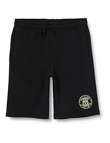 Vans OG Checker Fleece Short Ft Boys, Negro (Black Blk), Large para Niños