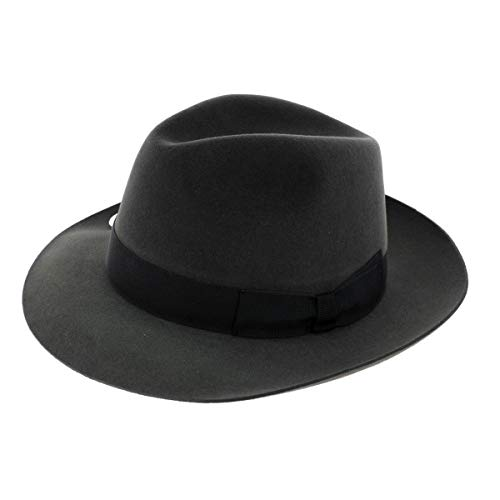 Wegener Hut Filz grau Gr. 55 cm, grau