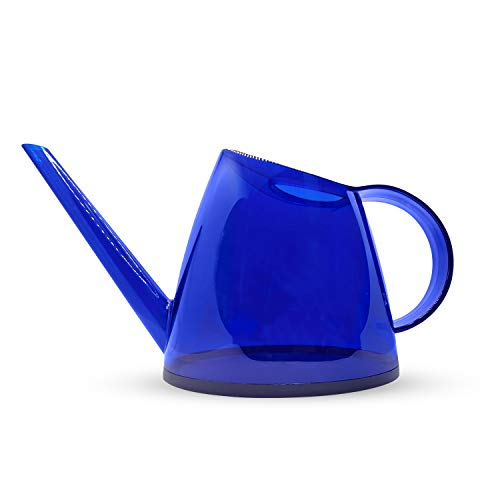 Itza - Small Watering Can for Indoor Plants, Long Spout for Succulents or Bonsai Tree, Decorative, Modern Indoor Plant Water Can, Ergonomic Handle Watering Tool, 1/3 Gallon 1.2 L - Blue
