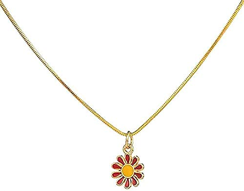 ZJJLWL Co.,ltd Collar Mujer Collar Romántico Dulce Lindo Flores Forma Collares Colgantes para Mujeres y Niños Regalos