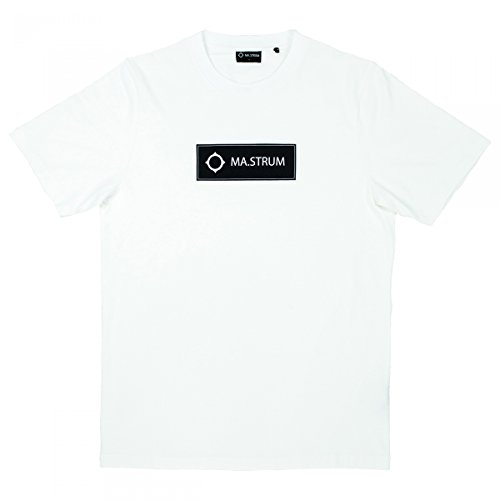 Ma.Strum Shirt Box Icon Tee, Maat: M, Kleur: Optic White