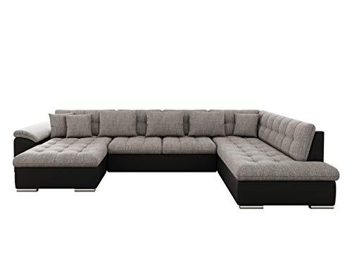 Mirjan24 Eckcouch Ecksofa Niko Bis! Design Sofa Couch! mit Schlaffunktion und Bettkasten! U-Sofa Große Farbauswahl! Wohnlandschaft vom Hersteller (Ecksofa Links, Soft 011 + Lawa 05)
