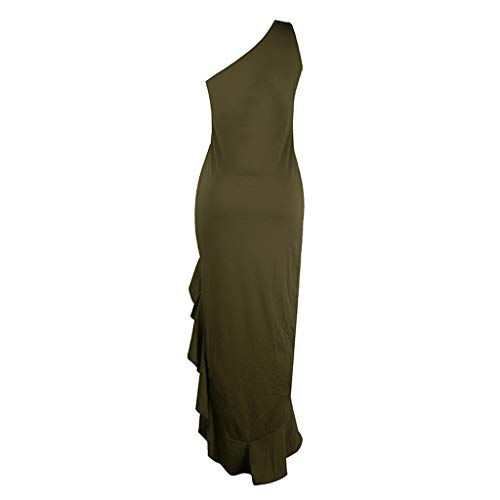 Lowest Prices! Witspace Womens One Shoulder Ruched Ruffle Formal Evening DressSlim Dresses