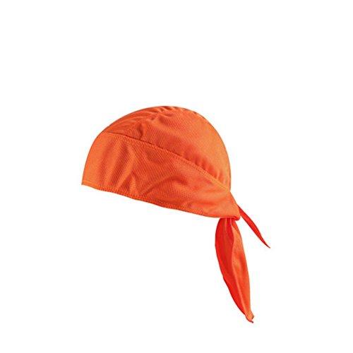 Ndier Bandana da Pirata, Cappello Sportivo Pirata Protezione UV Avvolgente per Ciclismo, Corsa e Altri Sport (Arancio)