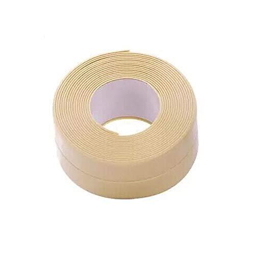 BLOUR 3,2 mx 38 mm Badezimmer Duschwanne Bad Dichtungsstreifen Klebeband Weiß PVC Selbstklebend Wasserdichter Wandaufkleber für Badezimmer Küche
