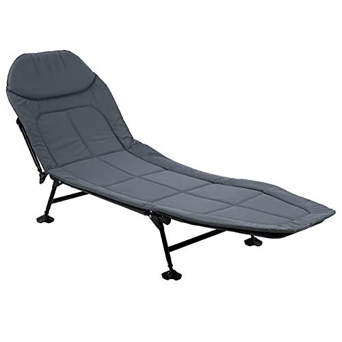 Tumbona relax de exterior, ligera y plegable, respaldo reclinable, tumbona reclinable de jardín, playa o piscina