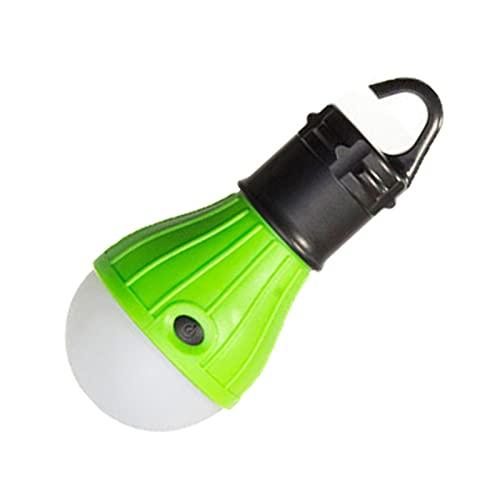 Luces de carpa LED Lámpara de campamento portátil Lámpara de luz de tiendas de linterna para Senderismo al aire libre y interior, alimentado con pilas (baterías no incluidas)- green