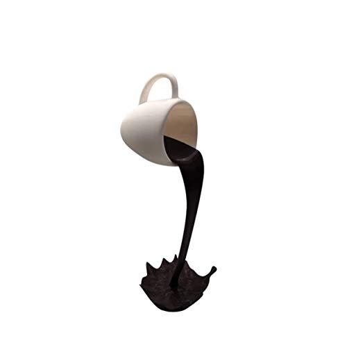 Escultura Flotante De La Taza De Café Que Se Derrama, 8 Estilos para Elegir, 15X7X7Cm, Artesanías De Resina, Utilizadas para Decoración De Escenas Y Regalos para Amantes...