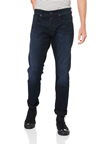 G-STAR RAW Herren Straight Tapered Jeans 3301 Straight Tapered, Blau (Dk Aged 6590-89), 36/32