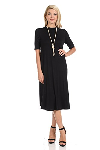 iconic luxe Women's Mock Neck Trape…