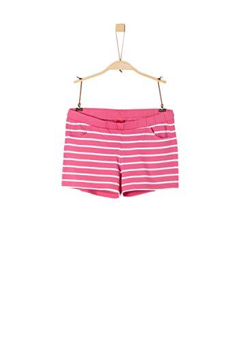 s.Oliver 73.906.75.4993 Pantaloncini, Rosa (Pink Stripes 45g1), 152 (Taglia Produttore: M/Reg) Bambina