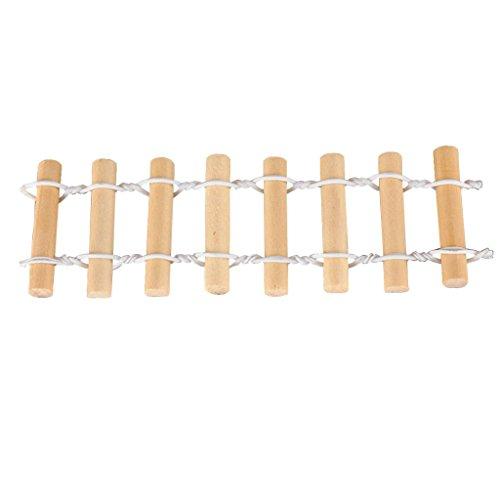 MagiDeal 2pcs Holz Zaun Lattenzaun Gartenzaun Deko für Minigarten Puppenhaus Modellbau - Holz