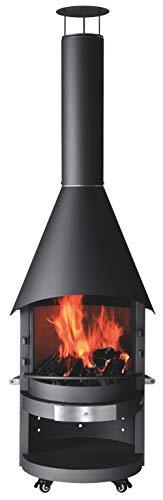 asado Gartenkamin und Grillkamin Fuego Stahl, Ø 70cm, Höhe 226cm