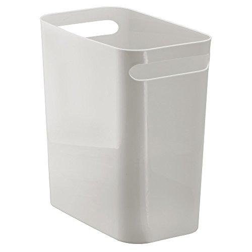 InterDesign Una Papelera de Reciclaje con Asas, Cubo de Basura de plástico, Papelera de Oficina, Cocina o baño