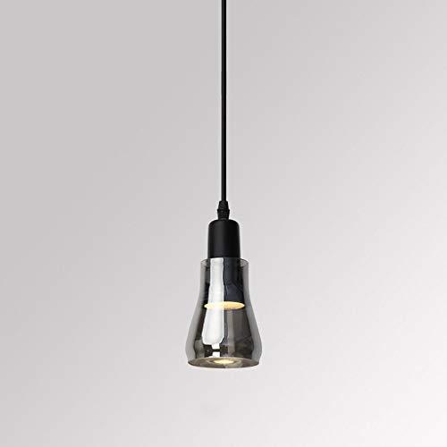 LLLKKK . Lámpara de cristal moderna minimalista y creativa, para salón, bar, comedor o comedor (color: negro).