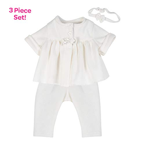 Adora Ropa para muñecas Baby Doll – Adoption Fashion Simply Classic para muñecas de bebé de 16 Pulgadas, Set de Regalo de 3 Piezas para niños