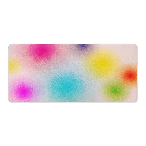 Rose red Yellow Blue Green Purple Cute Backgrounds Desktop and Laptop Mouse pad 1 Pack 800x400x3mm/31.5x15.7x1.1 in