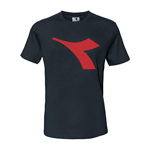 Diadora T-Shirt Maglietta Uomo Logo Cotone Art.173 (Blue Corsair - M / 48)