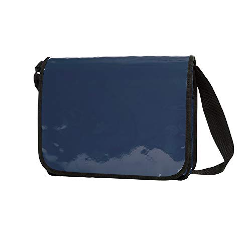 Messenger Bag aus LKW Plane Planentasche Kuriertasche mit Ãœberwurf und optionalem Laptop Inlay Notebook Inlet in vielen Farben von notrash2003 (Marine)