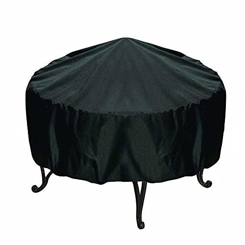 GLUTINOUS 4 Tamaños Patio Impermeable Fuego Fuego Funda Black Protector Grill BBQ Shelter Outdoor Garden Yard Redondo Canopy Muebles Cubiertas (Size : 86x36cm)
