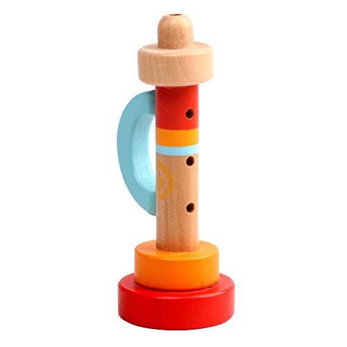 Toyvian 1 pc Holzhorn Hooter Trompete Instrumente Musik Lernspielzeug Frühes Lernspielzeug für Baby