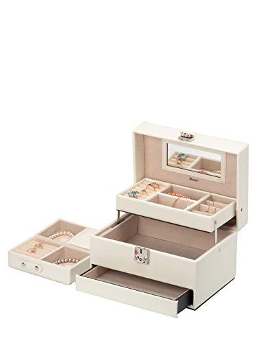 IsmatDecor - Elegante Caja Joyero - Joyero Grande para Mujer - Espejo,...