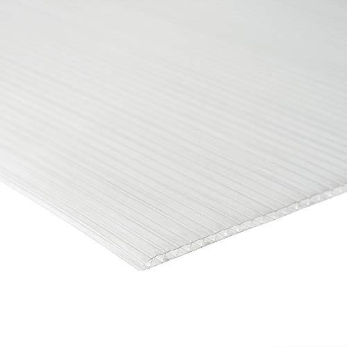 Zelsius Hohlkammerstegplatten Set 36-teilig | 6 mm Gewächshausplatte | Ersatzplatten für Gewächshaus, Garten Treibhaus
