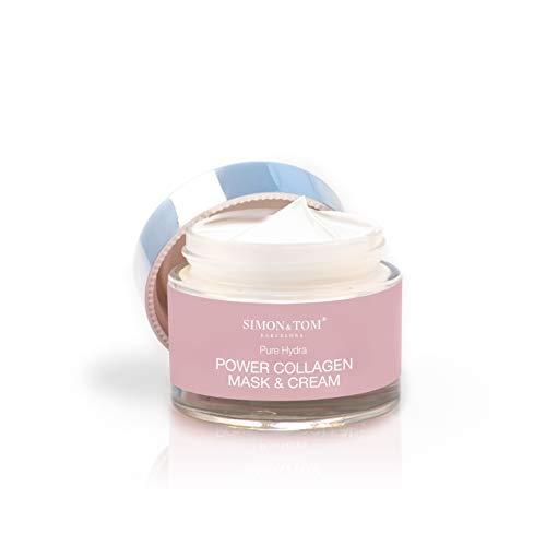 Crema Facial de Colágeno Marino Ultra concetrada con antioxidantes- Simon & Tom – Combate Arrugas, Tonifica e Hidrata - Efecto Lifting – HECHO EN ESPAÑA.