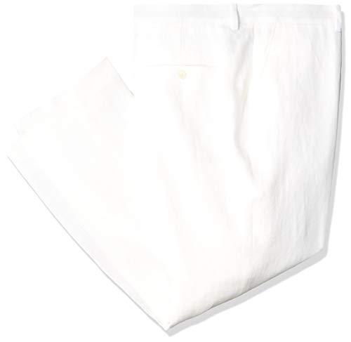 Tommy Hilfiger Men's Pant Modern Fit White Linen Suit Separates-Custom Jacket & Pant Size Selection, 36W x 34L