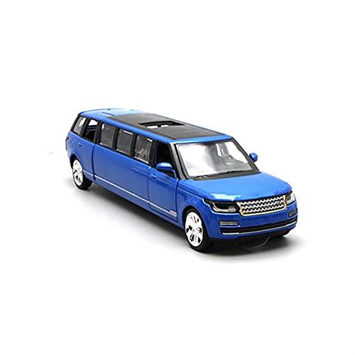Coches de Juguetes 1/32 Limusina Estiramiento SUV Alloy Diecast Toy Modelo Modelo De Automóvil Tire De La Espalda Sound Light Metal Vehicle Toy (Color : 2)
