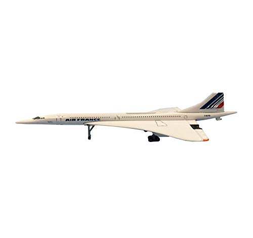 CMO Aviones Maqueta, Avión de pasajeros supersónico Concorde France Statico Modelos Escala 1/400, Juguetes y Regalos para Adultos, 5,9 x 2,4 Pulgadas
