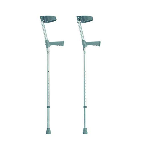 NRS Healthcare Height Adjustable Crutches with Plastic Handle - P