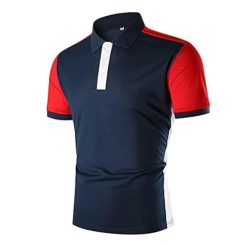 ZEZKT Camicia Uomo Elegante Basic Manica Corta Golf Tennis Poloshirt Classica Estate T-Shirt Sportive Maglia da Sport per Corsa Palestra Tops