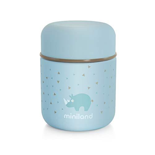 Miniland Isolierbehälter 280ml für Babynahrung - SILKY FOOD THERMOS MINI AZURE
